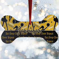 Cheer Ceramic Dog Ornaments w/ Name or Text