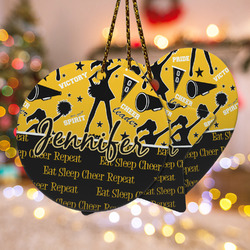 Cheer Ceramic Ornament w/ Name or Text