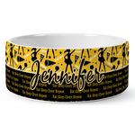 Cheer Ceramic Dog Bowl (Personalized)