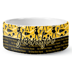 Cheer Ceramic Pet Bowl (Personalized)