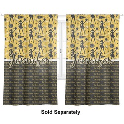 """Cheer Curtains - 40""""x54"""" Panels - Lined (2 Panels Per Set) (Personalized)"""