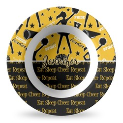 Cheer Plastic Bowl - Microwave Safe - Composite Polymer (Personalized)