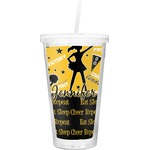 Cheer Double Wall Tumbler with Straw (Personalized)