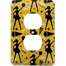Cheer Electric Outlet Plate (Personalized)