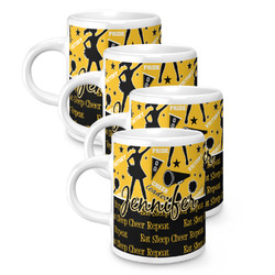 Cheer Espresso Mugs - Set of 4 (Personalized)