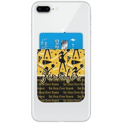 Cheer Genuine Leather Adhesive Phone Wallet (Personalized)