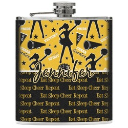 Cheer Genuine Leather Flask (Personalized)