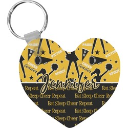 Cheer Heart Keychain (Personalized)