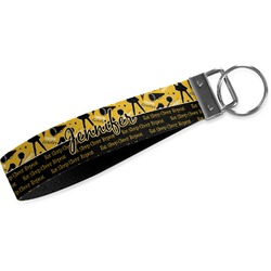Cheer Wristlet Webbing Keychain Fob (Personalized)