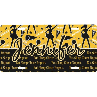 Cheer Front License Plate (Personalized)