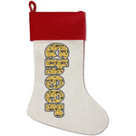 Cheer Red Linen Stocking (Personalized)
