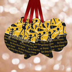 Cheer Metal Ornaments - Double Sided w/ Name or Text