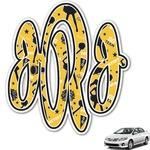Cheer Monogram Car Decal (Personalized)