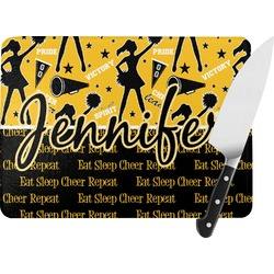 Cheer Rectangular Glass Cutting Board (Personalized)