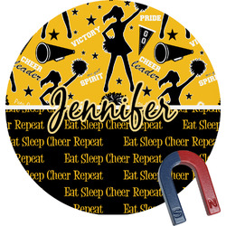 Cheer Round Magnet (Personalized)