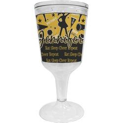 Cheer Wine Tumbler - 11 oz Plastic (Personalized)