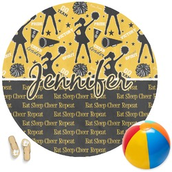 Cheer Round Beach Towel (Personalized)