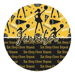 Cheer Round Decal - Custom Size (Personalized)