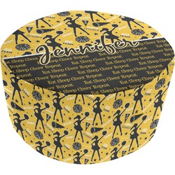 Cheer Round Pouf Ottoman (Personalized)