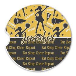 Cheer Sandstone Car Coaster - Single (Personalized)
