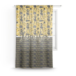 "Cheer Sheer Curtain - 50""x84"" (Personalized)"