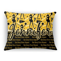 Cheer Rectangular Throw Pillow Case (Personalized)