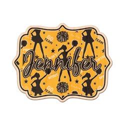 Cheer Genuine Wood Sticker (Personalized)