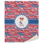 Cheerleader Sherpa Throw Blanket (Personalized)