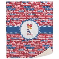 Cheerleader Sherpa Throw Blanket (Personalized)