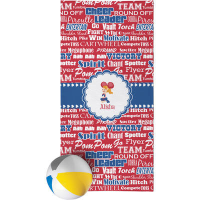 Cheerleader Beach Towel (Personalized)
