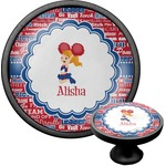 Cheerleader Cabinet Knob (Black) (Personalized)