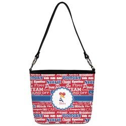 Cheerleader Bucket Bag w/ Genuine Leather Trim (Personalized)