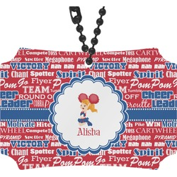Cheerleader Rear View Mirror Ornament (Personalized)