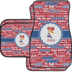 Cheerleader Car Floor Mats Set - 2 Front & 2 Back (Personalized)