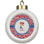 Cheerleader Ceramic Ball Ornament (Personalized)
