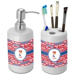 Cheerleader Bathroom Accessories Set (Ceramic) (Personalized)