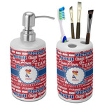 Cheerleader Bathroom Accessories Set (Ceramic) (Personalized)