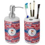 Cheerleader Ceramic Bathroom Accessories Set (Personalized)