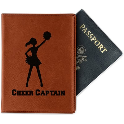 Cheerleader Leatherette Passport Holder (Personalized)