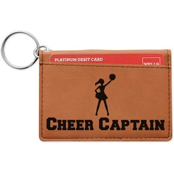 Cheerleader Leatherette Keychain ID Holder (Personalized)