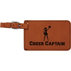 Cheerleader Leatherette Luggage Tag (Personalized)