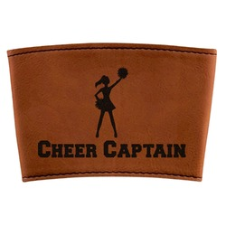 Cheerleader Leatherette Cup Sleeve (Personalized)
