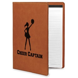 Cheerleader Leatherette Portfolio with Notepad (Personalized)