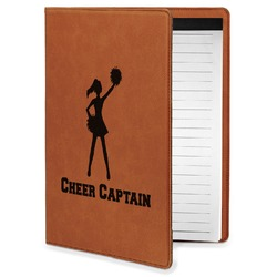 Cheerleader Leatherette Portfolio with Notepad - Small - Single Sided (Personalized)