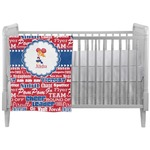 Cheerleader Crib Comforter / Quilt (Personalized)