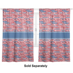"Cheerleader Curtains - 20""x63"" Panels - Unlined (2 Panels Per Set) (Personalized)"