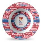 Cheerleader Plastic Bowl - Microwave Safe - Composite Polymer (Personalized)