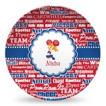 Cheerleader Microwave Safe Plastic Plate - Composite Polymer (Personalized)