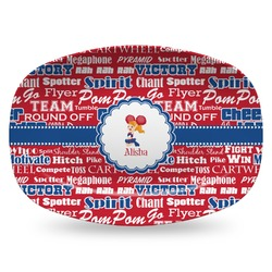 Cheerleader Plastic Platter - Microwave & Oven Safe Composite Polymer (Personalized)