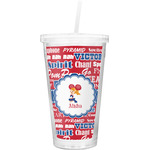 Cheerleader Double Wall Tumbler with Straw (Personalized)
